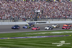 Pace lap: Dale Earnhardt Jr. and Jimmie Johnson lead the field