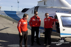 Jean Todt, Michael Schumacher and Rubens Barrichello