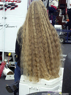 She'll be combing little bit of rubber out of that hair for days