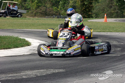 #6-Thomas Hartensveld, of Ringwood, NJ, leads Cadet Junior Sportsman racers, behind him are #17-Tim Megenbier, #8-Robert Thorne and #98-Evan Kalogiannis