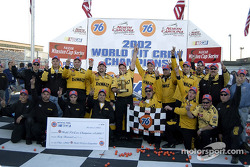 The Roush Racing crew celebrate winning the 76 World Pit Crew Championship