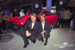 Volkswagen Tarek World debut at the Essen Motor Show: Jutta Kleinschmidt and Fabrizia Pons