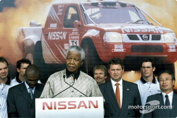 Nissan Rally Raid Team launch: Nelson Mandela