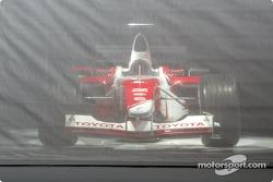 The new 2003 Toyota Racing TF103 presentation