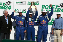 The podium: Daytona Prototype third place #8 G&W Motorsports BMW Picchio DP2: Boris Said, Darren Law, Dieter Quester, Luca Riccitelli