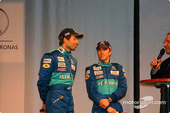 Heinz-Harald Frentzen and Nick Heidfeld on stage