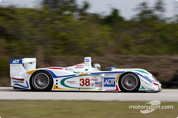 Stefan Johansson in the ADT Champion Audi R8 testing at Moroso (Florida)
