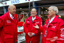 Toshiro Kurusu, Mr Fujio Cho and Dr Akihiko Saito