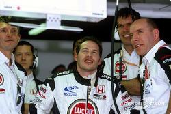 Jacques Villeneuve watches qualifying action