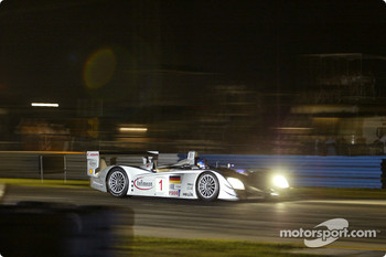 Philipp Peter in the #1 Audi R8 of Infineon Team Joest during night practice
