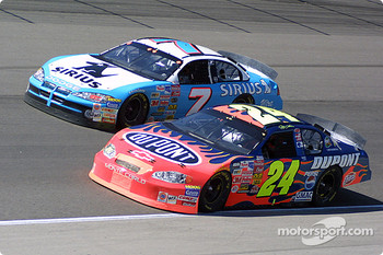 Jimmy Spencer and Jeff Gordon