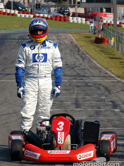 Karting session with Juan Pablo Montoya