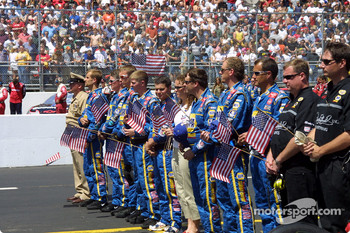 Crew salutes the USA