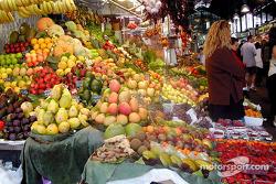 Beautiful fruit display at the market