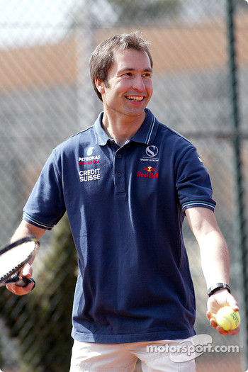 Charity tennis tournament at the Sanchez-Casal Academy in Barcelona: Heinz-Harald Frentzen