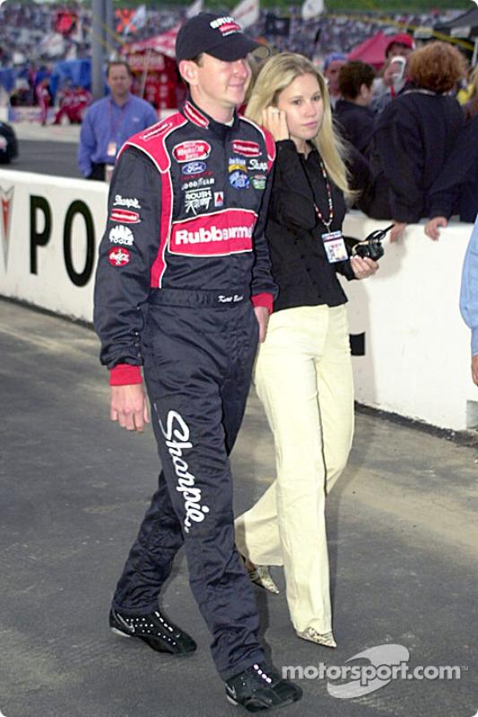 Kurt Busch with Melissa Schaper