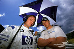 Sam Michael and Ralf Schumacher on the starting grid