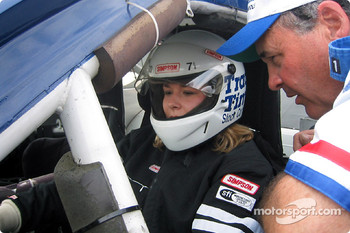 Jen getting advice on leaving the pits