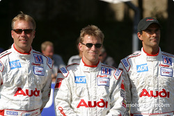 Team presentation: #6 Champion Racing Audi R8: J.J. Lehto, Stefan Johansson, Emanuele Pirro