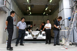#5 Audi Sport Japan Team Goh pit area