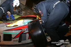 Pitstop for #93 Alex Job Racing Porsche 911 GT3-RS: Lucas Luhr, Sascha Maassen, Emmanuel Collard