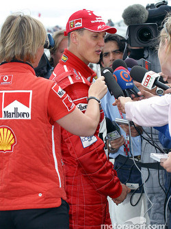 Post-race interview for Michael Schumacher