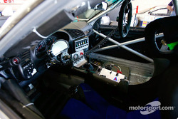Race car cockpit awaiting its driver