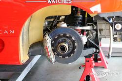 Rear brakes of the #33 Ferrari