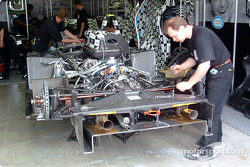 Racing for Holland pit area