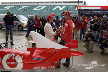 Michael Schumacher and Frankie Detorri