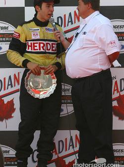 The podium: David Martinez