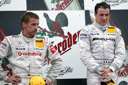 The podium: race winner Jean Alesi and Bernd Schneider