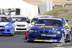 Race action on the first lap