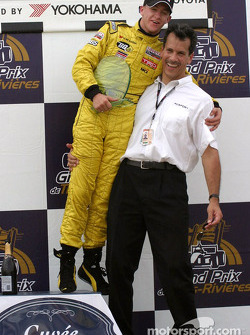 A.J. Allmendinger with team owner Carl Russo