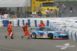 Michael Schrom in the Turn 1 wall