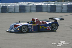 #30 Intersport Racing Riley & Scott MK III C: Clint Field, Michael Durand spins