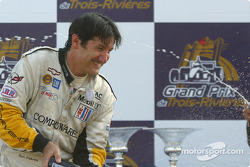 GTS podium: champagne for Ron Fellows