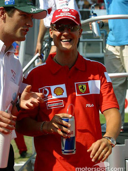 Mark Webber and Michael Schumacher