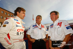 Carlos Sainz, Jean-Claude Vaucard and Guy Fréquelin
