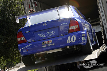 Jeff Altenburg's Mazda Protege is unloaded