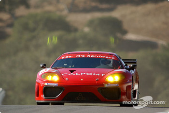 #35 Risi Competizione Ferrari 360 Modena: Ralf Kelleners, Anthony Lazzaro