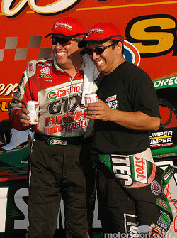 John Force and Tony Pedregon