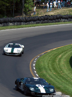 #21 1966 Ford GT40, owned by Bill Murray leads #12 1966 Ford GT40, owned by Tom Maby