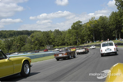 Vintage car show takes to the track