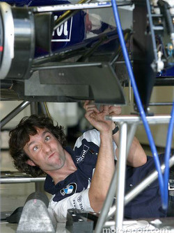 Williams-BMW team member works hard