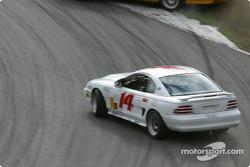 #14 Frederick Motorsports Mustang Cobra R: Greg Camp, Andrew Kopperl goes sideway