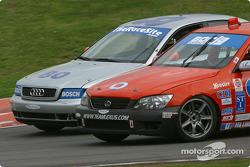 #80 LM Racing Audi A4: John Legg, Rick Ellinger, and #0 Team Lexus Lexus IS300: Jacques Guénette Jr., Andy Lally