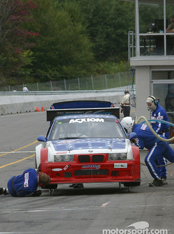 #69 Marcus Motorsports BMW M3: Brian Cunningham, Hugh Plumb, Cory Friedman in the pits