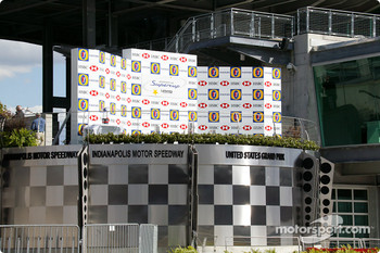 United States GP podium at Indianapolis Motor Speedway
