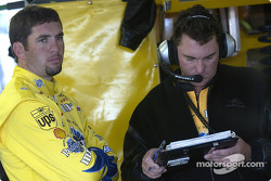 Elliott Sadler with crew chief Todd Parrott